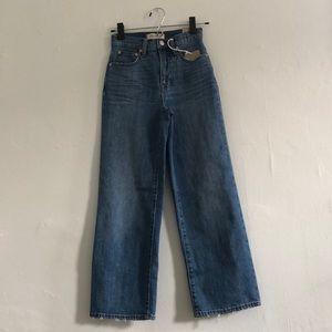 NWT Madewell Slim Wide-Leg Crop Denim Jeans w23